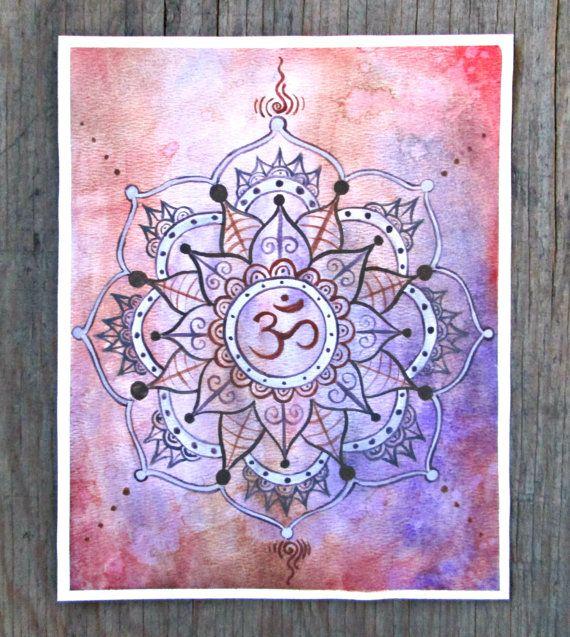 Yoga Art  Shanti  Mandala Painting  Crown Chakra by EarthChildArt