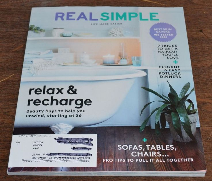 REAL SIMPLE MAGAZINE March 2017 Relax & Recharge Elegant & Easy Potluck Dinners