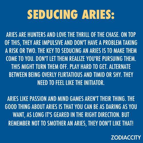 Seducing an aries woman