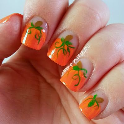 Plump and Polished: Falling for Nail Art: Great Pumpkin - 25+ Gorgeous Pumpkin Nail Art Ideas On Pinterest Fall Nail Art
