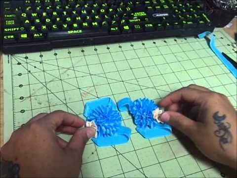 PIES DESCALZOS PARA BEBE Paso a Paso pap BAREFOOT SANDALS Tutorial DIY - YouTube