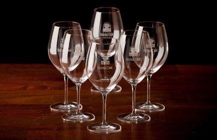 Silver Oak wine glasses