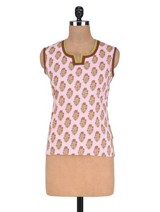 Buy Vastra Vinod Pink Cotton Kurta Online, , LimeRoad