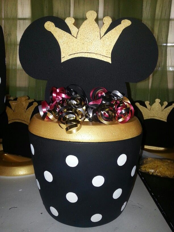 Mickey  Mouse  Prince black and white polka dots hielera ice holder