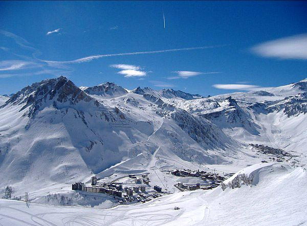 Beautiful Tignes in the French Alps