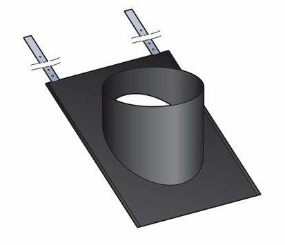 Embase d'étanchéité ardoise Poujoulat pour sortie de toit inox-inox | Fumisterie
