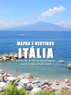 10 Destinos mais Famosos de Itália e Mapa das regiões Italianas. Mapa de Itália e pontos de interesse e para visitar.