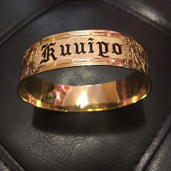 14k solid gold bangle.. hawaiian heirloom..KUUIPO means sweetheart! Jewelry Bracelets