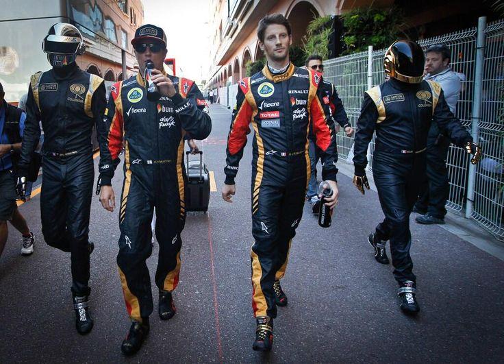 Daft Punk with Kimi Raikonnen & Romain Grosjean -  Monaco GP