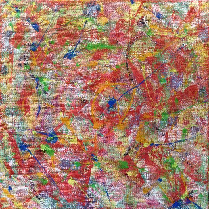VRIJHEID, schilderwerk met acrylverf op linnen en jute. Doek 120 x 120 cm. CasUallArt