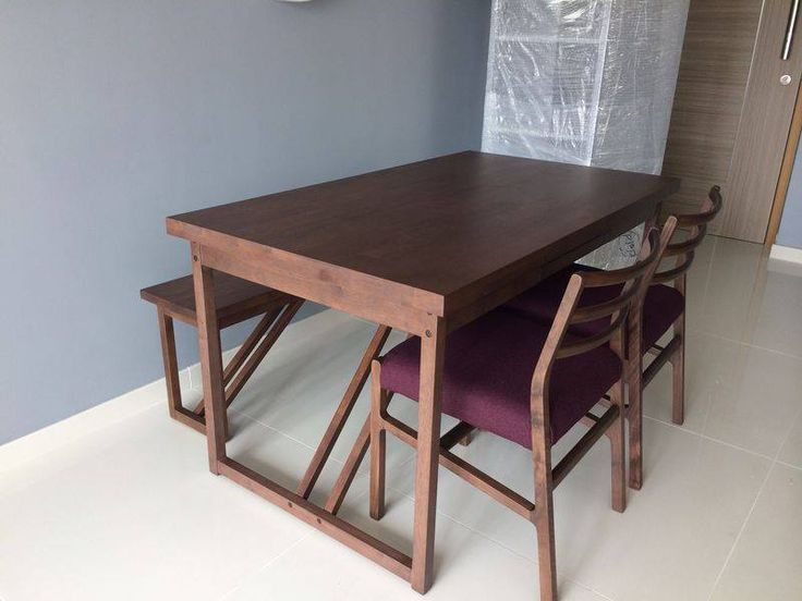 Amazing Soild Wood Dining Table With Bench And Y HOPE Chair