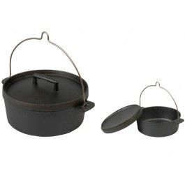 Skeppshult® 5.5 Litre Cast Iron Dutch Oven – Open and Closed