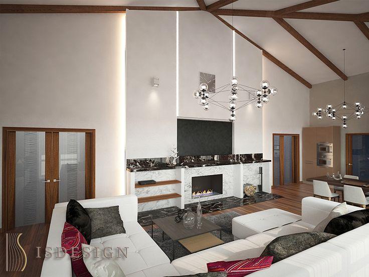 Дизайн проект интерьера пентхауса в Карловых Варах. Архитектор - дизайнер Инна Войтенко.