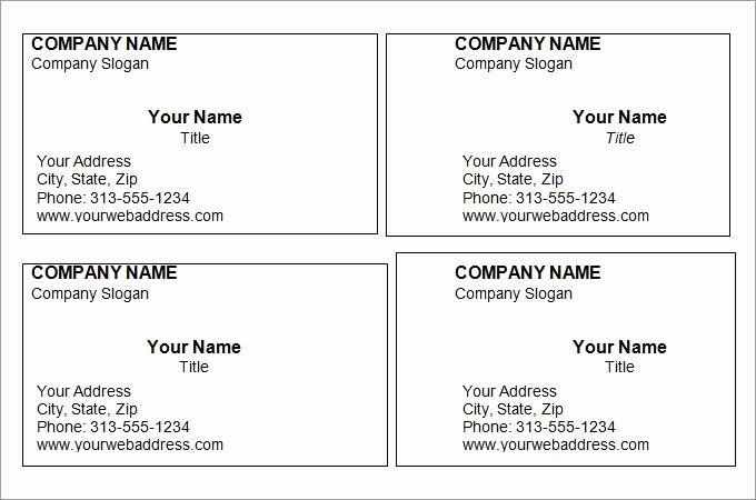 Blank Template For Business Cards Inspirational Free Printable Business Car Free Printable Business Cards Free Business Card Templates Printable Business Cards