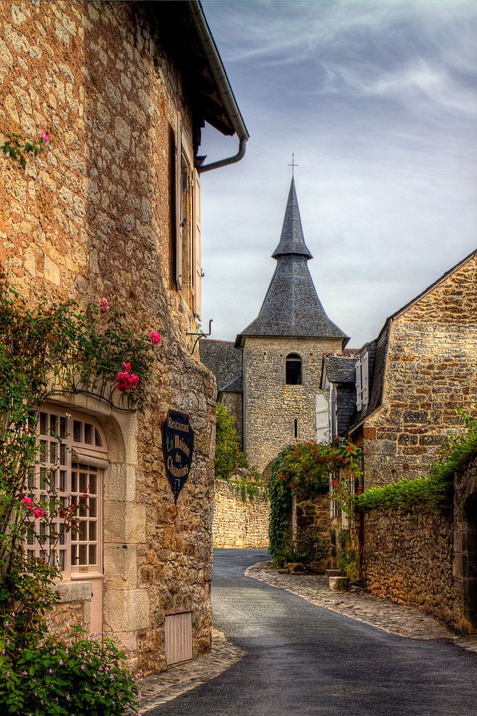 Pretty Village of Turenne, France