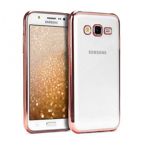Θήκη TPU Electro Jelly με διάφανη πλάτη για Samsung Galaxy J5 - Ροζ Χρυσό - ebnb.gr