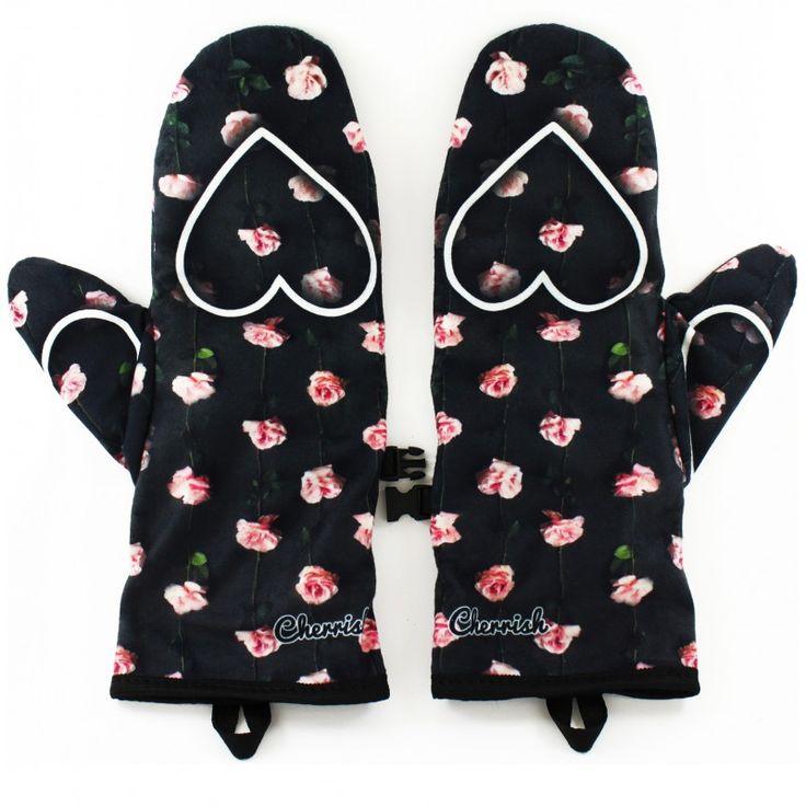 Rękawiczki Cherrish Serduszka Róże - polscy projektanci / polish fashion designers - ELSKA