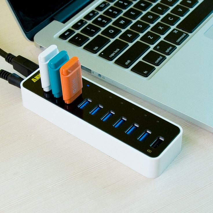 9 USB-Port Superspeed Hub / This USB-port Superspeed hub from Anker is the last word in device connectivity and data transfer. It offers nine high-speed USB 3.0 ports that can move data at a scorching rate of 5GBPS. http://thegadgetflow.com/portfolio/9-usb-port-superspeed-hu-60/