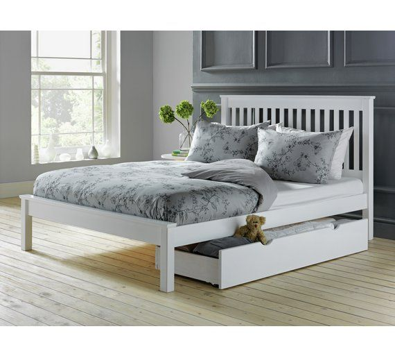 Buy Collection Aspley Double Bed Frame - White at Argos.co.uk, visit Argos.co.uk to shop online for Bed frames, Beds, Bedroom furniture, Home and garden