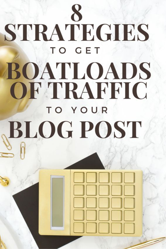 Learn 8 awesome strategies to getting BOATLOADS of traffic to your website or blog.
