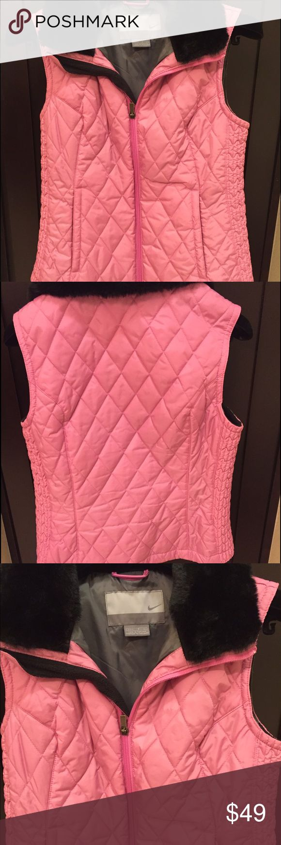 Nike vest Nike quilted size Small with double pockets & special stitching design to accent a narrower waist. Nike Jackets & Coats Vests