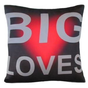 Big Loves #throw pillows.  Loving Cushions by Chelsea Design NZ. 45cm x 45cm Machine washable 100% polyester with satin look and feel.. Cushion cover on its' own or supplied with 400gm scatter tigerfil inner.
