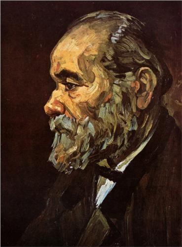 Portrait of an Old Man with Beard - Vincent van Gogh #vanGogh #art