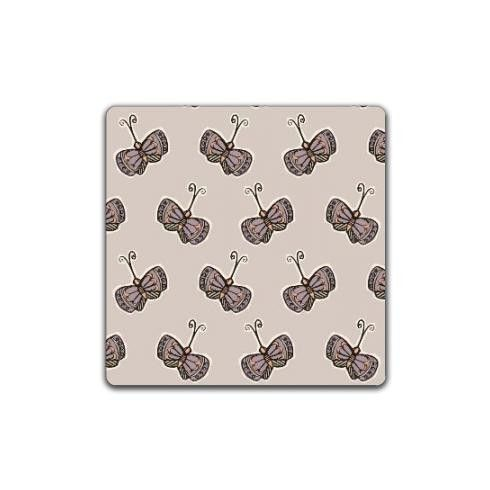 Fluttering all around, every day feels like summer with this cute butterfly design. Pastel pinks tone to create a calming background with a hand drawn repeating pattern by made-by-hendo