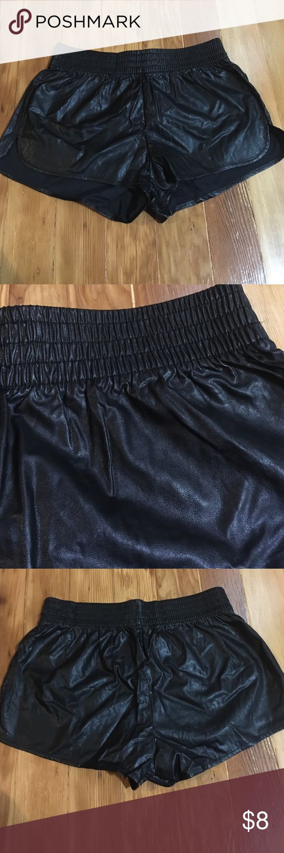 Forever21 Faux Leather shorts Forever21 faux leather dolphin shorts, they have never been worn but the tags have been removed Forever 21 Shorts