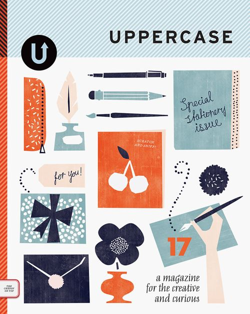 Uppercase magazine, featuring a scratch and sniff cover. A treat to the eye, and the nose!  Issue 17, Spring 2013    Canada  Publisher / editor / designer:   Janine Vangool,