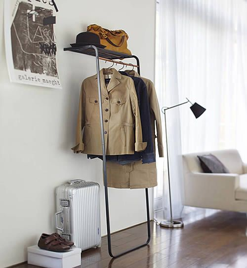 Freestanding Coat Stand With Storage Shelf