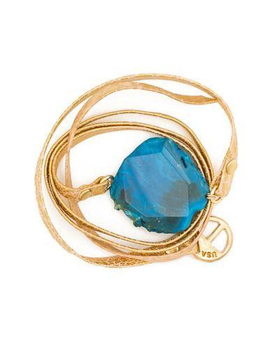 Turquoise Agate Bracelet.