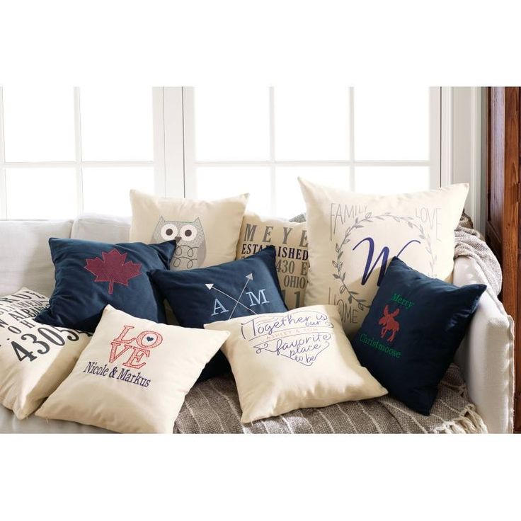 Create your own personalized pillows.