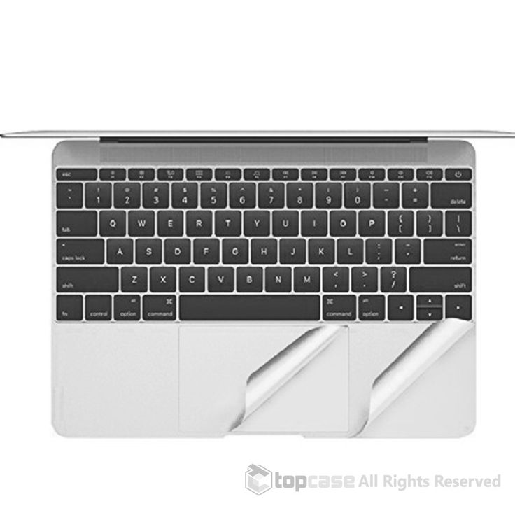 """TopCase Silver Palm Rest Cover Skin with Trackpad Protector for New Macbook 12-Inch 12"""" Model A1534 with Retina Display (Newest Version 2015)"""