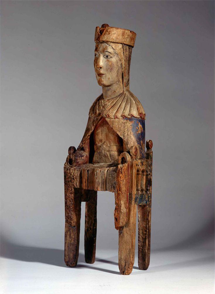 Virgen románica catalana. Segunda mitad siglo XII