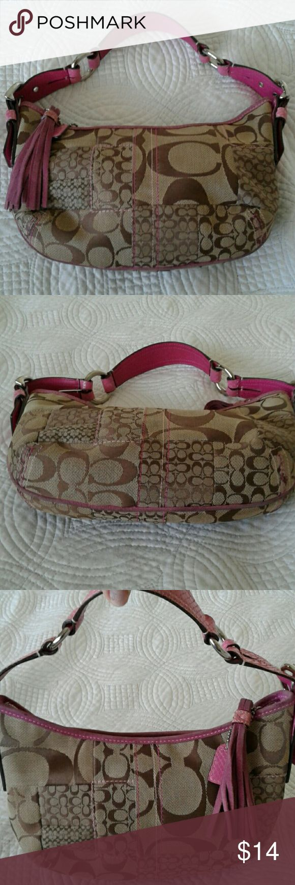 Coach hobo bag NC05Q 3680 Coach hobo bag condition used signs normal of wear Coach Bags Hobos