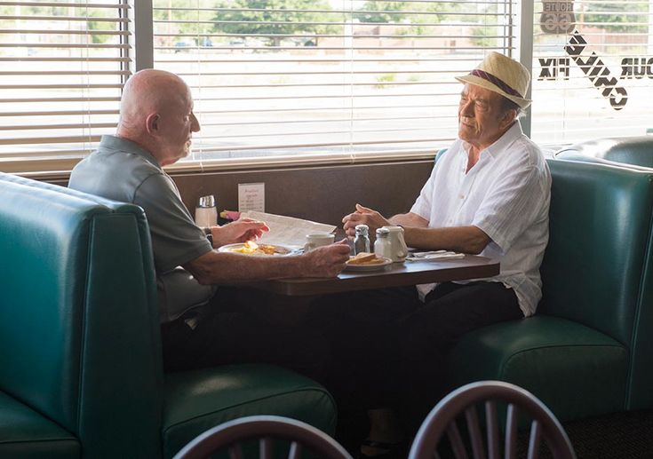 Better Call Saul Season 2 Mike Ehrmantraut (Jonathan Banks) and Hector Salamanca (Mark Margolis) in Episode 5 Photo by Ursula Coyote/Sony Pictures Television/AMC