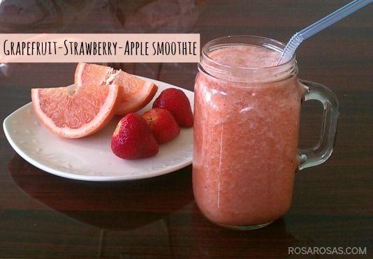Grapefruit-Strawberry-Apple Smoothie | Recipes | Pinterest