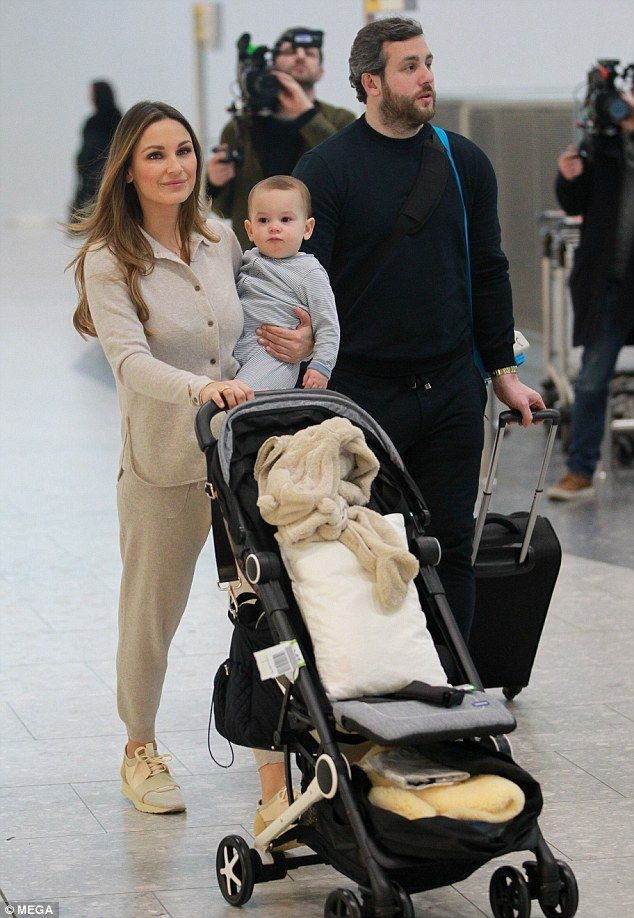California dreaming! Sam Faiers, her boyfriend Paul Knightley and their son Paul Jr. were ...