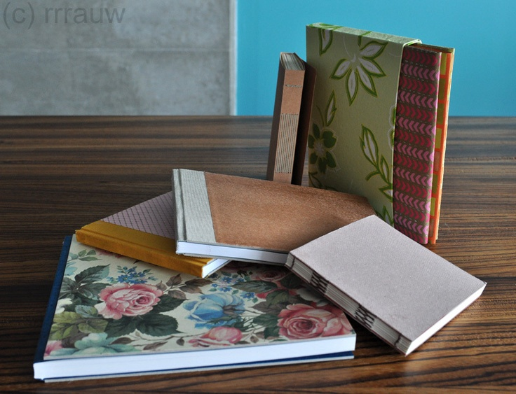 Bookbinding / boekbinden: books handbound by me.