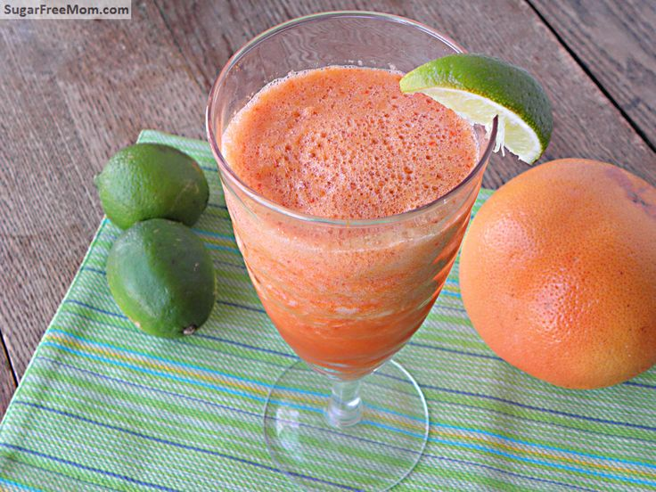 Grapefruit Veggie Lime Juice (No Sugar Added) A perfect cleansing/detoxing juice full of vitamins & veggies and you'll never taste them!