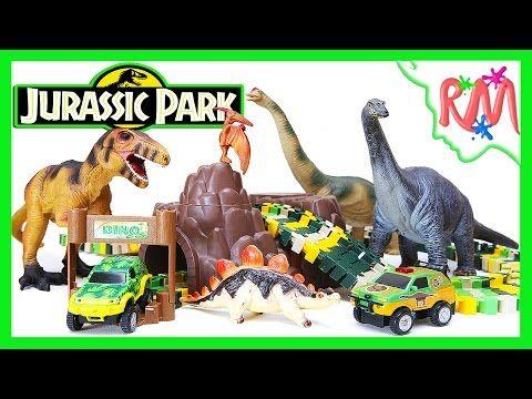 Мы собрали игрушечный парк юрского периода и Дино Трек с машинками и игрушечными динозаврами. Раcскажем короткую историю о приключениях туристов и динозавров...
