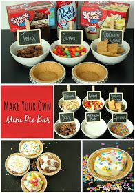 Make your own mini pie bar idea using Snack Pack pudding cups from - kid or adult party idea