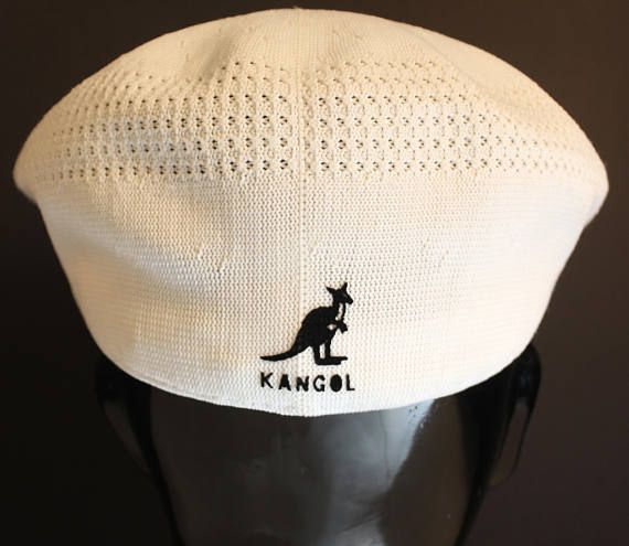 ac0e25db9b9 Vintage Kangol newsboy hat Made in England vintage Kangol hat white ...