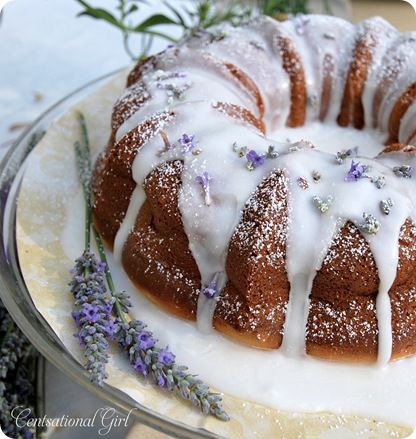 Lavendar Lemon Cake, perfect for that tea party I'll never have
