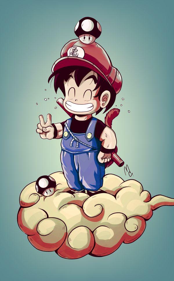 Curioso FanArt fusión entre Goku y Mario Bros