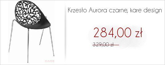 Krzesełko ażurowe Aurora Kare Design cena krótki czas obniżona zobacz na stronie http://www.liv-art.pl/krzesla/605-krzeslo-aurora-czarne-kare-design.html