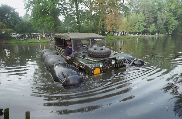 LandRover going for a swim