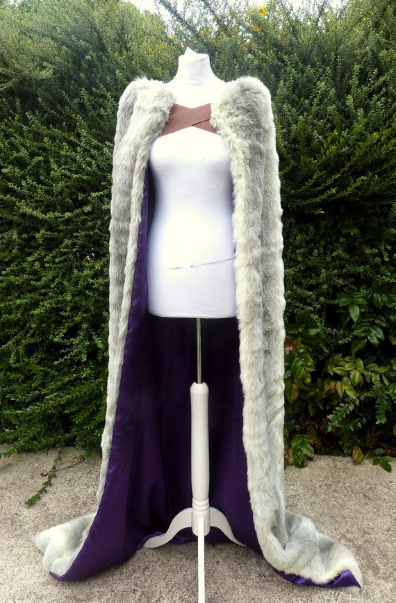 Customizable Full Length Fur Cloak - Fur, straps and lining of your choice (See Description)
