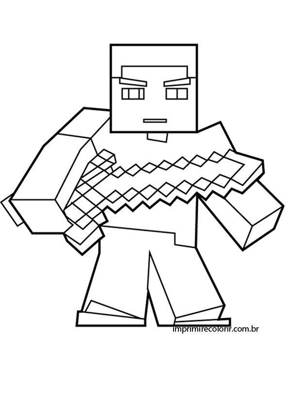 Resultado De Imagem Para Lego Minecraft Para Imprimir E Pintar Libros Para Pintar Minecraft Imprimibles Imprimir Sobres